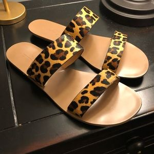 Animal Print Dandals by J. Crew Size 8